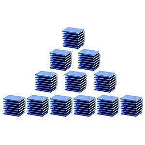 3D Printer Parts and Accessories, FYSETC Stepper Motor Driver Heat Sink Cooling Fin Block Aluminum Heatsinks Ultra-Silent for LV8729 DRV8825 TMC2100 TMC2130 TMC2208 Motor Driver - 12 Pcs, Blue from Fuyuansheng