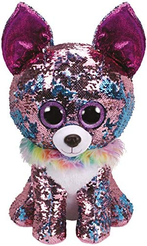 """15cm Yappy The Flippable Sequin Chihuahua Toy Ty Flippables Collection 6/"""""""