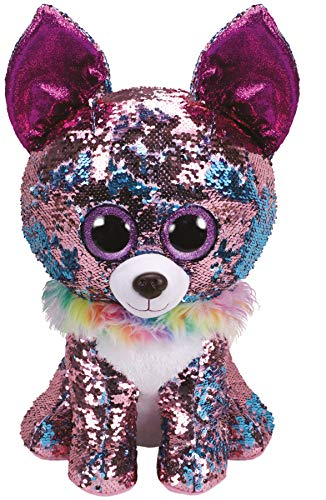 Ty Flippables TY36764 Large Sequins Yappy The Chihuahua Soft Toy, 40 cm, Multi-Coloured ()