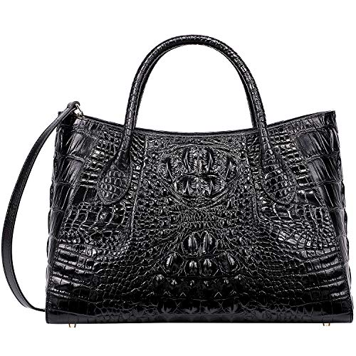 PIJUSHI Women Handbags Crocodile Top Handle Bag Designer Satchel Bags For Women (5002A, - Cell Black Valentino Phone