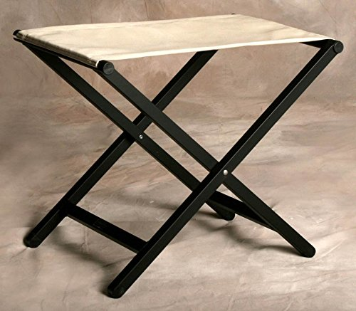 (Sutton Bridge Folding Footstool w Small Aluminum Frame in Linen)