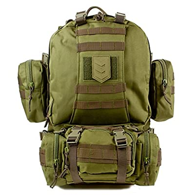 3V Gear Paratus 3-Day Operator's Tactical Backpack, Military Rucksack/Bug Out Bag with MOLLE, Survival, Backpacking, Hunting, Backpack (Black, Grey, Tan, OD)
