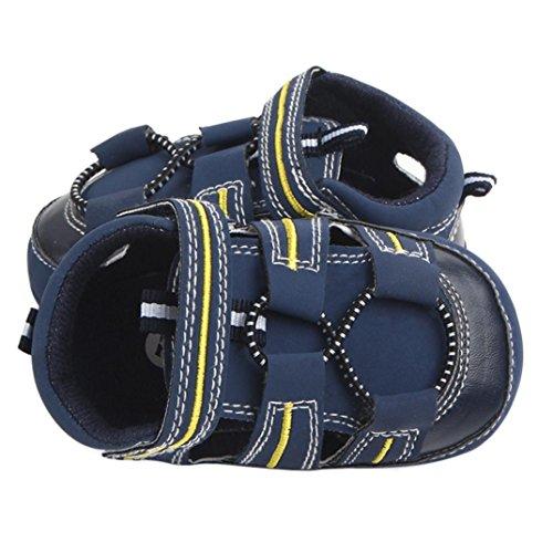 Igemy 1Paar Sommer Kinder Geschlossene Zehe Kleinkind Jungen Mädchen Sandalen Baby Sandalen Schuhe Blau