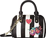 Betsey Johnson Multi Flower Mini Crossbody Satchel Bag - Stripe