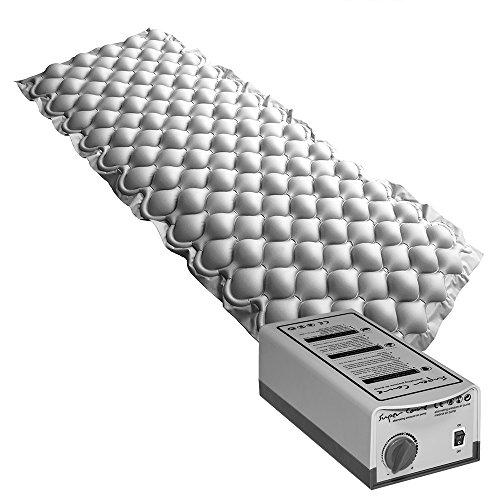 51luT6MrSqL. SS500 Sistema de compresor y colchón alternante para la prevención y tratamiento de las úlceras por presión, en pacientes encamados durante largos periodos de tiempo y que presenten un riesgo de bajo a medio. Ciclo alternante de 6 minutos.