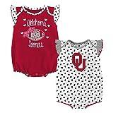 Gen 2 NCAA Oklahoma Sooners Newborn & Infant Heart Fan 2pc Bodysuit Set, Multi, 0-3 Months
