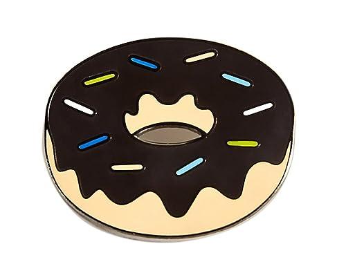 0287be4ba Real Sic Chocolate Donut Enamel Pin - Kawaii Emoji Lapel Pin - Food Pin  Accessory for Jackets, Bags, Backpacks, Hats, and Tops: Amazon.ca: Jewelry