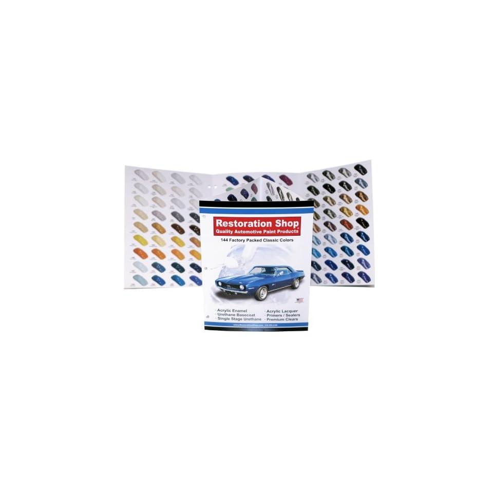 144 Restoration Shop COLOR CHART AUTO/CAR PAINT CHIPS