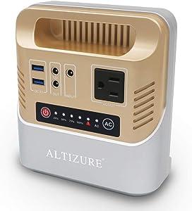 ALTIZURE Portable Power Station Portable Power Generator Portable (100W 146Wh 39600mAh Gold)