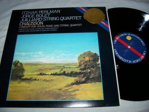 Itzhak Perlman Jorge Bolet Juilliard String Quartet Chausson Concert For Violin, Piano and String Quartet