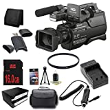 Sony HXR-MC2500 Shoulder Mount AVCHD Camcorder + NP-F970 Replacement Lithium Ion Battery+ External Rapid Charger + 16GB SDHC Class 10 Memory Card + 37mm UV Filter + XL Rugged Camcorder Case + SDHC Card USB Reader + Memory Card Wallet + Deluxe Starter KitB