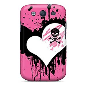 Protector Cell-phone Hard Covers For Samsung Galaxy S3 With Customized High Resolution Pink Heart Image ErleneRobinson