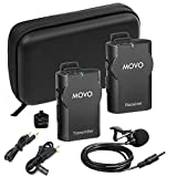 Movo WMIC10 2.4GHz Wireless Lavalier Microphone System for DSLR Cameras, iPhone/iPad/Android Smartphones, & Camcorders (82-foot Transmission Range)