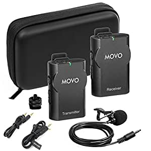 movo wmic10 2 4ghz wireless lavalier microphone system for dslr cameras iphone ipad android. Black Bedroom Furniture Sets. Home Design Ideas