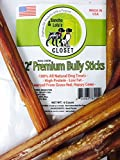 """12"""" MEDIUM, THICK, SLIM or X-THICK Bully Sticks for Dogs Made in USA~100% Grass-Fed Kosher American Beef~ No Antibiotics No Growth Hormones~GRAIN FREE Lasting Dog Chews by Sancho & Lola's"""