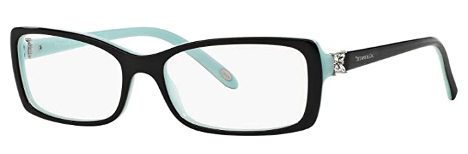 fea34279ddc5 Amazon.com  Tiffany   Co. TF 2091-B Women Rectangle Eyeglasses RX - able  Frame (Black Blue 8055