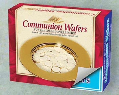 Broadman Church Communion White Wafers - Cross Design (1 - (Holy Bread)
