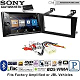 Volunteer Audio Sony XAV-W651BTN Double Din Radio Stereo Install Kit with Bluetooth, Pandora, iPhone Control, USB, AUX, Navigation Fits 2000-2004 Toyota Avalon with Amplified System