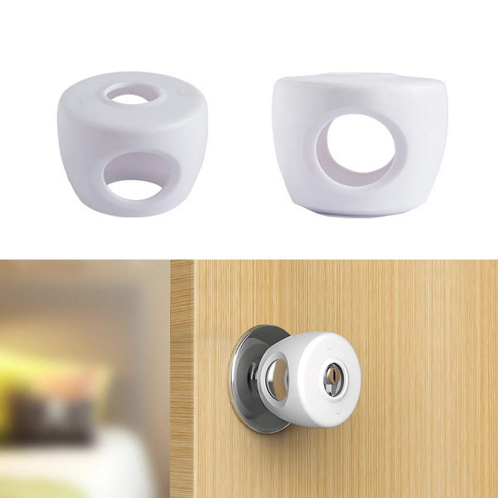 JAGETRADE Kids Baby Door Knob Safety Cover Child Proof Lockable Drawer Handle Sleeve Children Safety Care Home Room Accessory