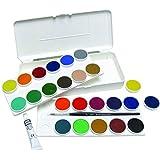 Grumbacher Opaque Watercolor Set, 24 Colors & Brush
