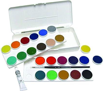 amazon com grumbacher opaque watercolor set 24 colors brush