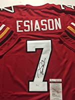 Autographed/Signed Boomer Esiason Maryland Terrapins Red Football Jersey JSA COA