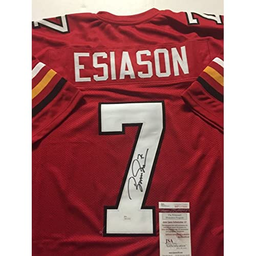 12708f42c hot sale 2017 Autographed Signed Boomer Esiason Maryland Terrapins Red  Football Jersey JSA COA