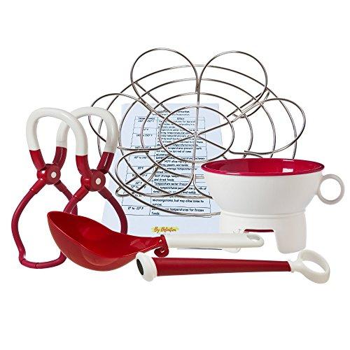 Prepworks by Progressive Canning Essentials 6-Piece Bundle with Red Funnel, Jar Lifter, Magnetic Lid Lifter, Scoop, Metal Bottle Rack and Fridge Magnet by Prepworks from Progressive (Image #9)