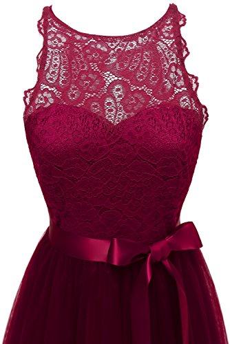 Rouge Bridal Femme Robe Trapze Bordeaux Victoria Agpw1