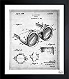 vintage airplane blueprint - Goggles 1925' Vintage Framed Wall Art Print for Home decor & Office. The Airplanes Wall Decor Blueprint Collection by Oliver Gal Hand Framed and Ready to Hang. 15x18 inch