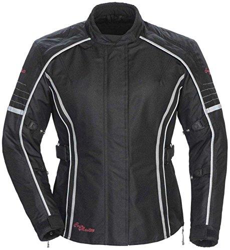 Tour Master Trinity Series 3 Women's Textile Sports Bike Racing Motorcycle Jacket - Black / Large