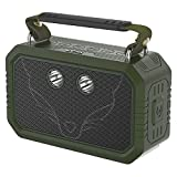 Waterproof Bluetooth Speaker,DOSS Traveler portable IP66 Waterproof Shockproof Dustproof Bluetooth speaker with 3W flashlight and 20W bold sound,12H Playtime,Handsfree,Perfect for outdoor[Olive Green]