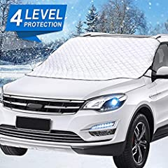This Windshield Snow Cover is a completely waterproof, snow-proof and ice-proof windshield cover that fits any make and model of vehicle. Car Windshield Cover is the perfect protection for your car windscreen and wiper. Block dust, keep a cle...