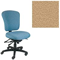 Office Master PC Collection PC55 Ergonomic Superior Task Chair - No Armrests - Grade 1 Fabric - Spice Sesame Beige 1166 PLUS Free Ergonomics eBook