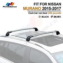 Fit for Nissan Murano 2015-2017 Lockable Baggage Luggage Racks Roof Racks Rail Cross Bar Crossbar-Silver