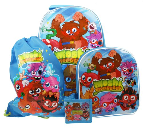 Collection 4 Piece Luggage Set (Moshi Monsters Children's 4 Piece Luggage Set)