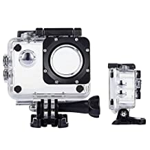 ASOCEA Action Camera Waterproof Case Underwater Housing for SJCAM SJ4000 Pictek ODRVM 12MP 1080P AKASO EK7000 4k APEMAN C-Mall Wifi Action Camera