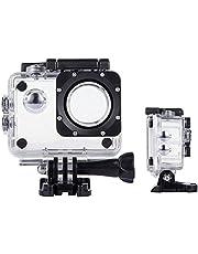 ASOCEA Action Camera Waterproof Case Underwater Photography Housings Protective Cam Shell Compatible with EK7000 APEMAN AKASO Pro 4k SJCAM SJ4000 Pictek Campark ODRVM 12MP 1080P