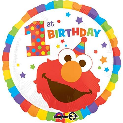 - Elmo 1st Birthday Sesame Street Mylar 18'' Balloon Happy Birthday Party Decorations Supplies