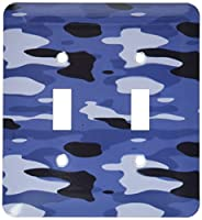 3dRose LLC lsp_36161_2 Navy Blue Camouflage- Military Fashion- Patriotic, Double Toggle Switch