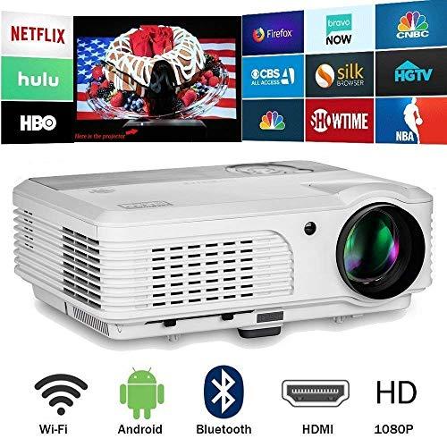 (Video Bluetooth Projector WiFi Wireless 4400 Lumen LED 200