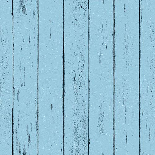 "Blue Wood Wallpaper - Wood Peel and Stick Wallpaper - Contact Paper or Wall Paper - Removable Wallpaper - Prepasted Wallpaper - 1.48 ft. x 9.83 ft. - 14.55 sq. ft. (17.71"" Wide x 118"" Long)"