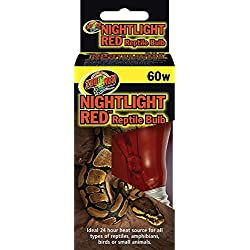 Zoo Med Nightlight Red Reptile Bulb 60 Watts