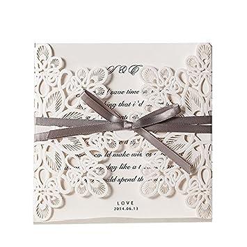 Wishmade Einladungskarten Wm207 Ohne Druck Fur Hochzeit Geburtstag
