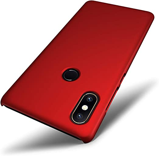 SLEO Funda para Xiaomi Mi Mix 2S PC Back Cover de Parachoques Duro ...