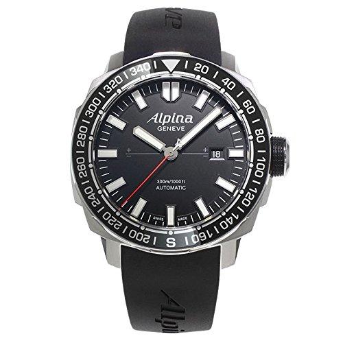 Yacht Timer (Alpina Men's AL-525LB4V6 Yacht Timer Tactical Planner Black Dial Black Rubber Strap Watch)