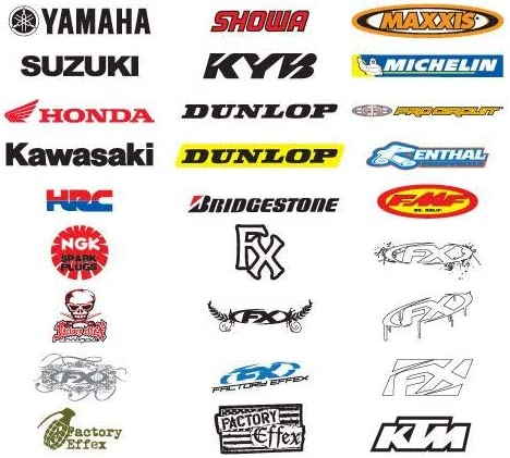 Pack of 5 Factory Effex 12-90020 Sticker,