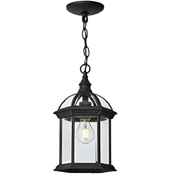 Classical outdoor hanging chandelier black metal with clear glass classical outdoor hanging chandelier black metal with clear glass downward hanging traditional exterior light aloadofball Images