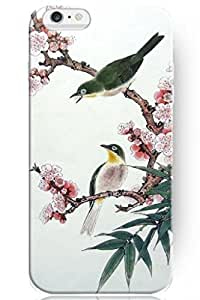 Customized LO.O Case Accessories New Fashion Design Idea Gift Hard Skin Cover Shell TwoGreen Bird ) Case For iPhone 5 5s