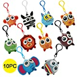 Sinofun 10PCS Big Eye Animal Squishy Keychain, Cute Slow Rising Squishies Toys Hang Set, Party...